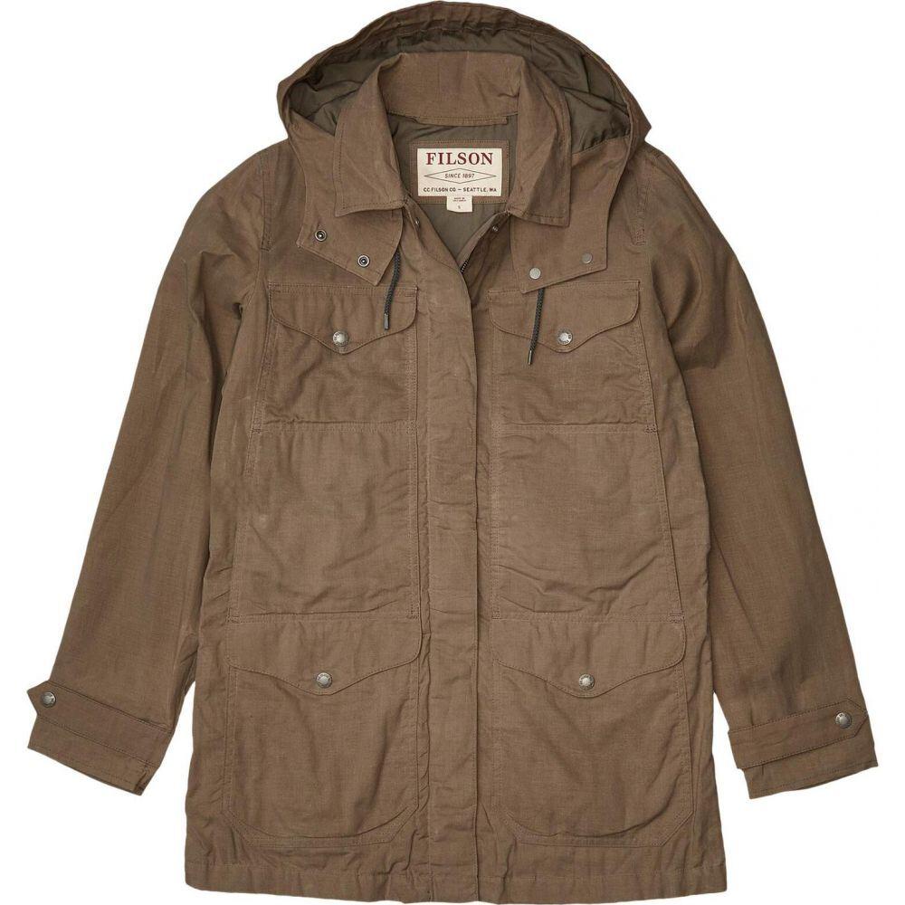 フィルソン Filson レディース ジャケット アウター【Lightweight Moorcroft Jacket】Gravel/Taupe