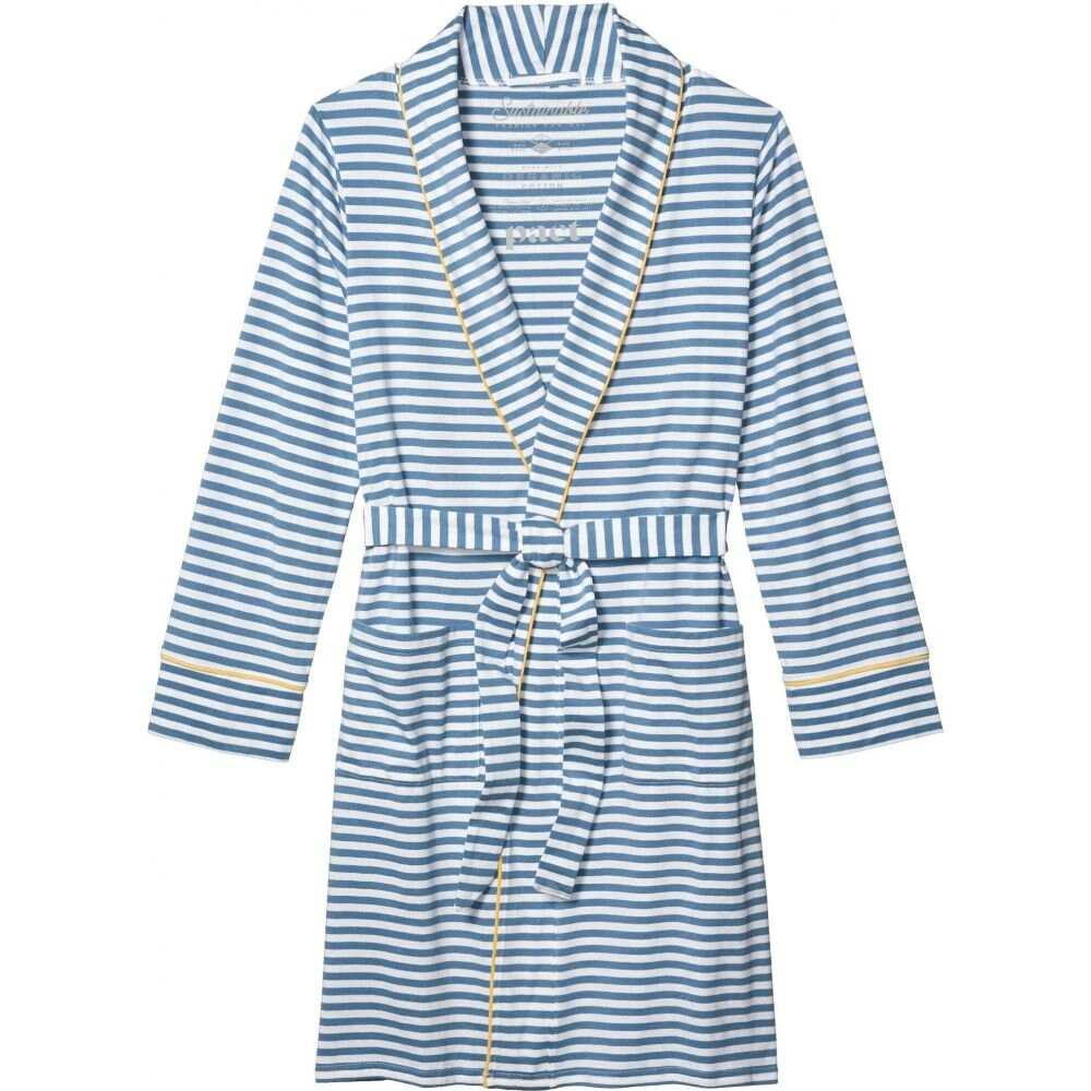 パクト PACT レディース ガウン・バスローブ インナー・下着【Pocket Robe】Cadet Stripe