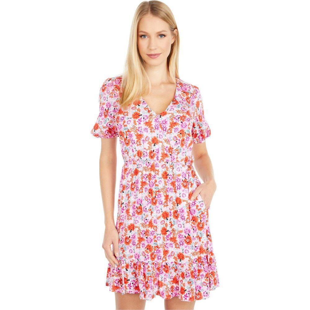 ラッキーブランド Lucky Brand レディース ワンピース ラップドレス ワンピース・ドレス【Ditsy Floral Mila Wrap Dress】Pink Multi