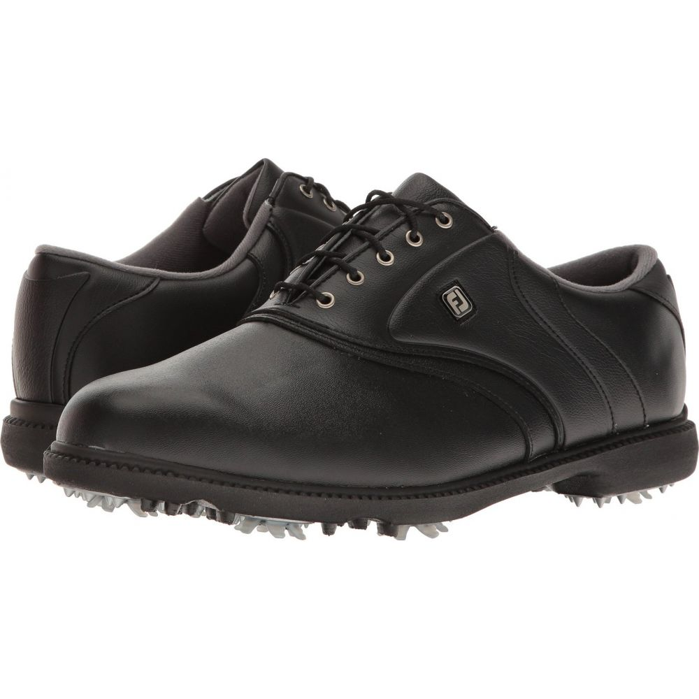 フットジョイ FootJoy メンズ ゴルフ シューズ・靴【Originals Cleated Plain Toe Twin Saddle】Black