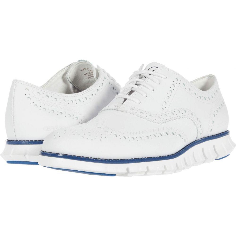 コールハーン Cole Haan メンズ 革靴・ビジネスシューズ ウイングチップ シューズ・靴【Zerogrand Wing Tip Oxford】Optic White Leather WR/True Blue/Optic White