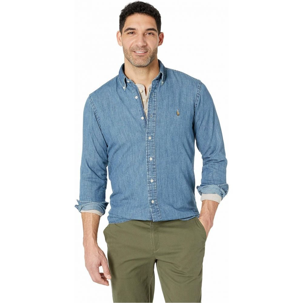 ラルフ ローレン Polo Ralph Lauren メンズ シャツ シャンブレーシャツ トップス【Chambray Sport Shirt】Denim