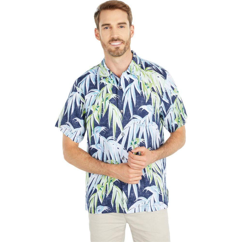 トミー バハマ Tommy Bahama メンズ シャツ トップス【Perfect Palmday Linen Camp Shirt】Ocean Deep