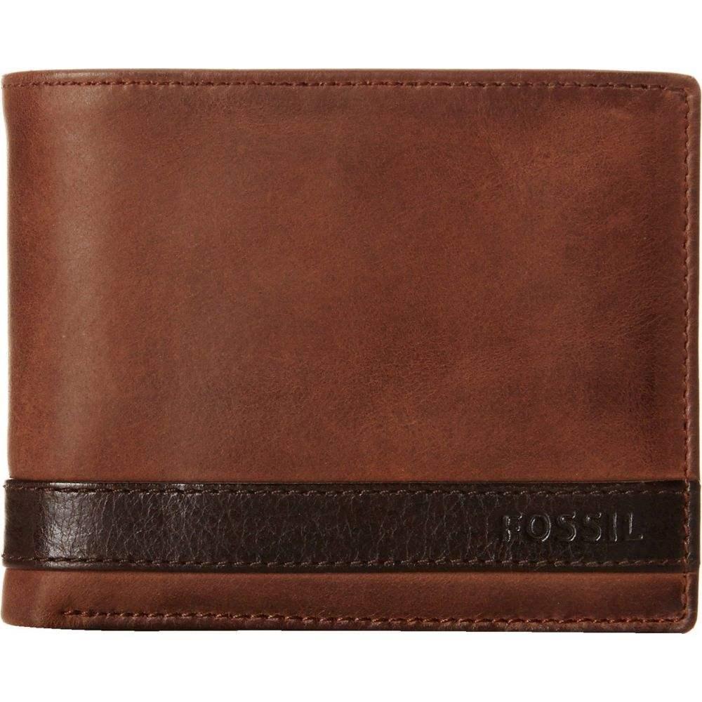 フォッシル Fossil メンズ 財布 【Quinn Passcase】Brown