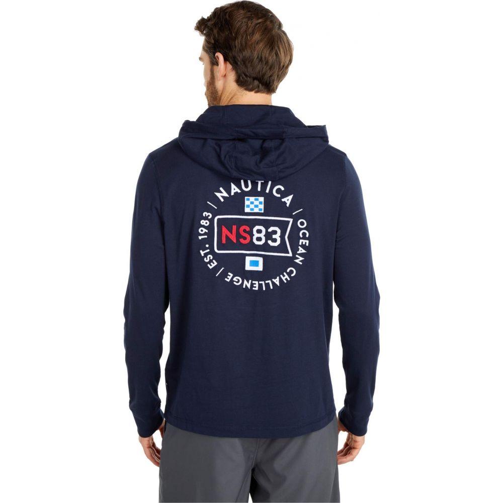 ノーティカ Nautica メンズ パーカー トップス【Hooded T-Shirt】Blue