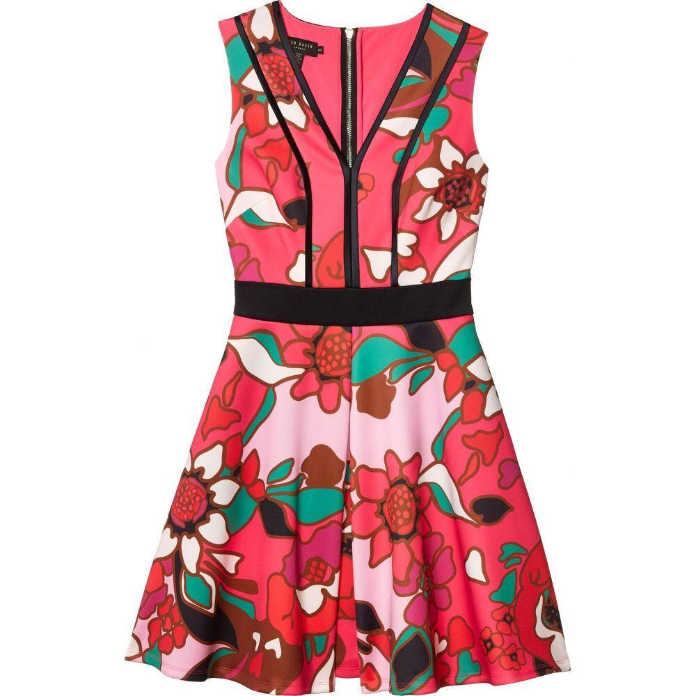 テッドベーカー Ted Baker レディース ワンピース スケータードレス ワンピース・ドレス【Arilina Pinata Pipe Detail Skater Dress】Bright Pink
