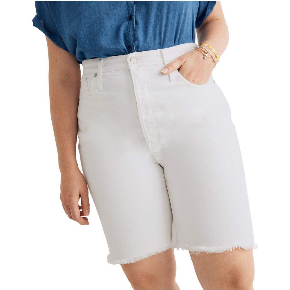 メイドウェル Madewell レディース ショートパンツ ボトムス・パンツ【Long Inseam Rigid Shorts in Tile White】Tile White