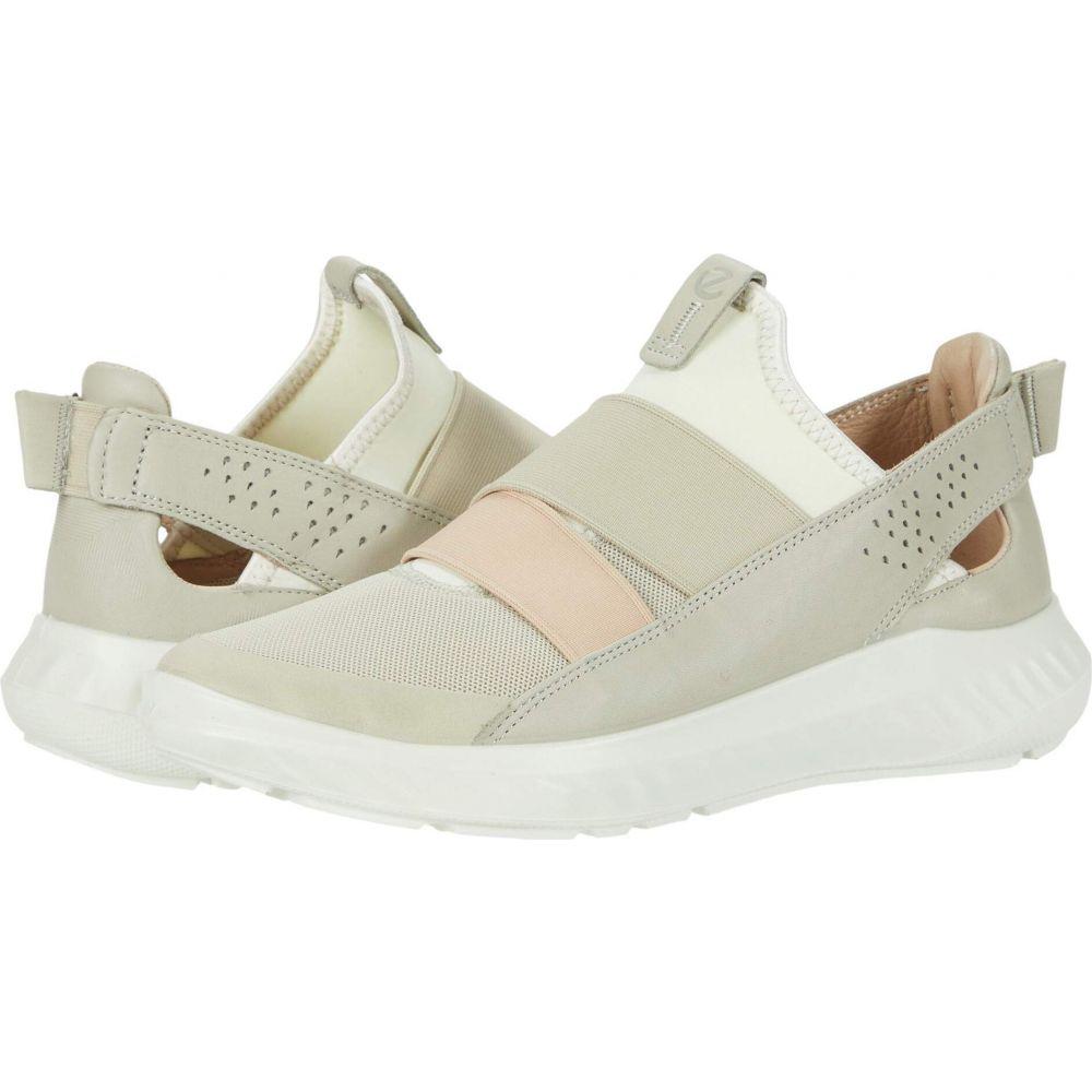 エコー ECCO レディース スリッポン・フラット シューズ・靴【ST.1 Lite Slip-On】Multicolor Gravel Cow Leather/Textile