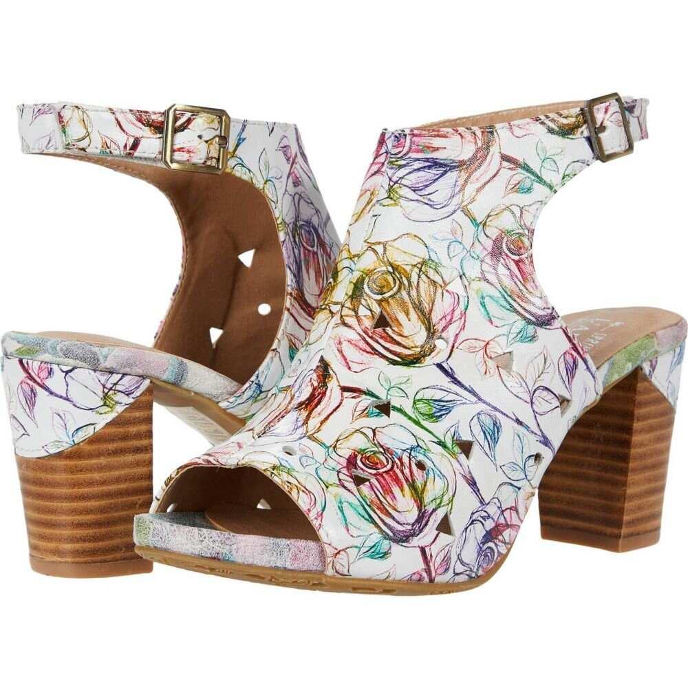 スプリングステップ L'Artiste by Spring Step レディース サンダル・ミュール シューズ・靴【Tapestrela】White Multi