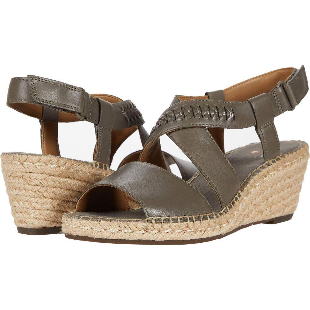 クラークス Clarks レディース サンダル・ミュール シューズ・靴【Petrina Bay】Olive Leather