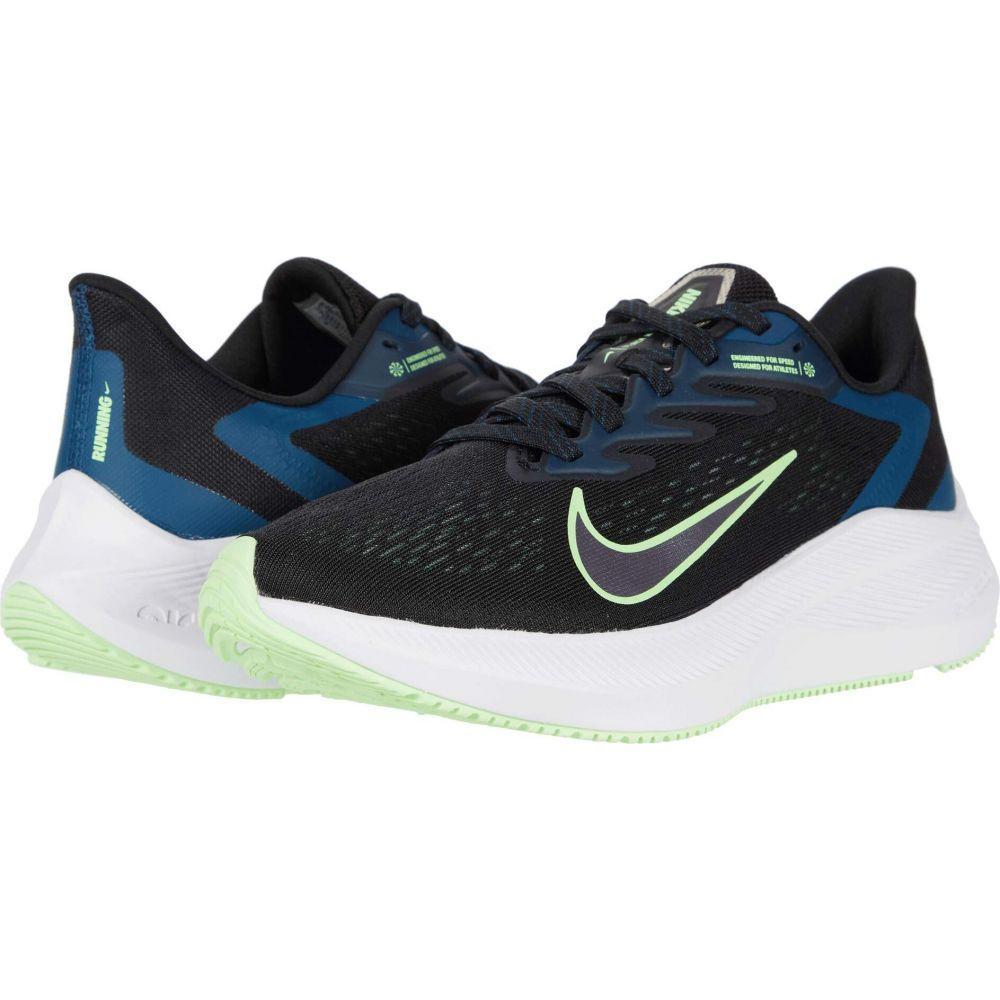 ナイキ Nike レディース ランニング・ウォーキング シューズ・靴【Zoom Winflo 7】Black/Vapor Green/Valerian Blue