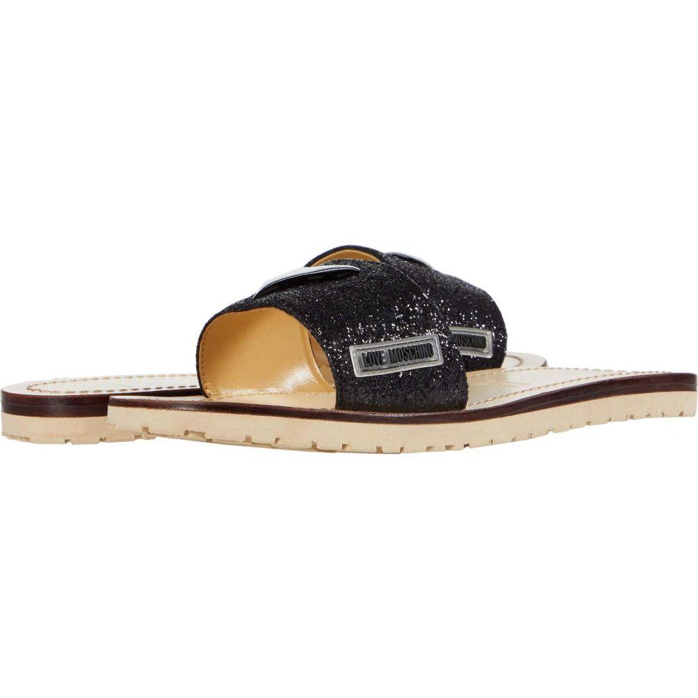 モスキーノ LOVE Moschino レディース サンダル・ミュール シューズ・靴【Heart Sandal】Black