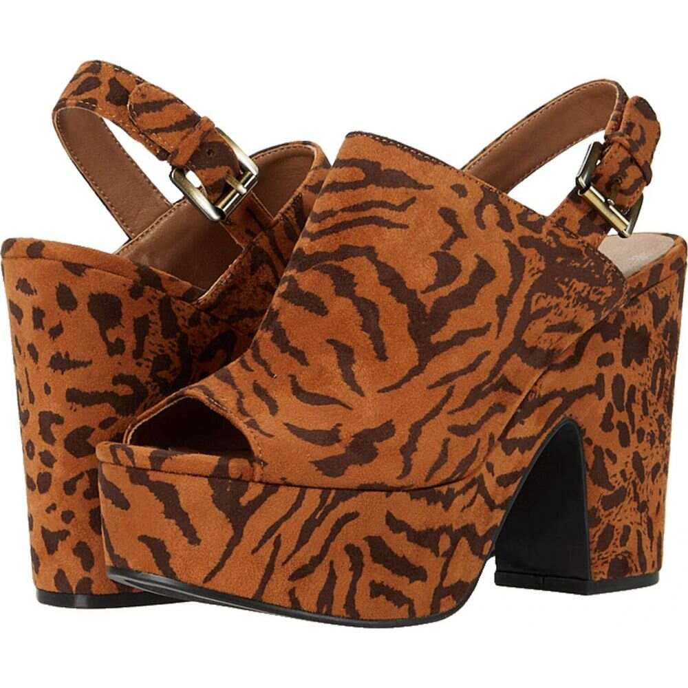 チャイニーズランドリー Chinese Laundry レディース サンダル・ミュール シューズ・靴【Bella】Dark Tan Tiger Leopard