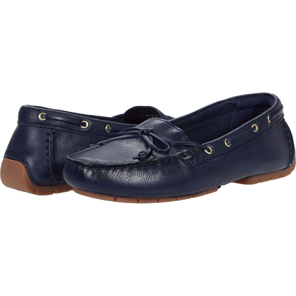 クラークス Clarks レディース スリッポン・フラット シューズ・靴【C Mocc Boat】Navy Leather