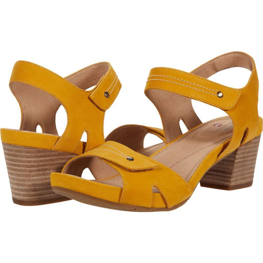 クラークス Clarks レディース サンダル・ミュール シューズ・靴【Un Palma Vibe】Yellow Leather