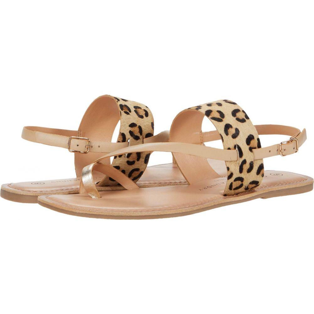 チャイニーズランドリー Chinese Laundry レディース サンダル・ミュール シューズ・靴【Reeba】Gold/Cream/Natural Pony Leopard