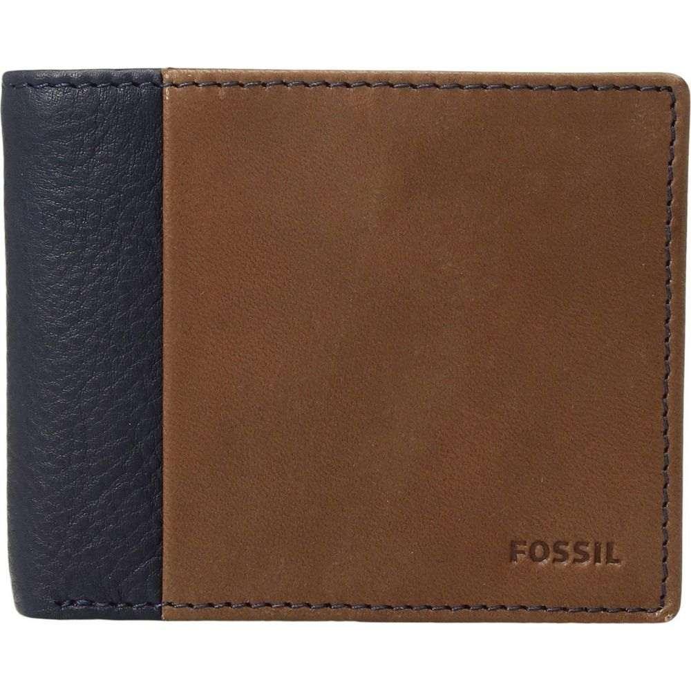 フォッシル Fossil メンズ 財布 二つ折り【Ward RFID Bifold w/ Flip ID】Navy