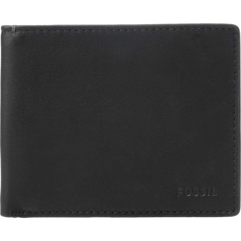 フォッシル Fossil メンズ 財布 二つ折り【Camp Leather Bifold Flip ID Wallet】Black