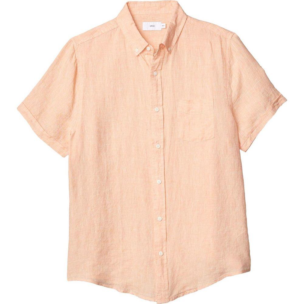 オニア onia メンズ 半袖シャツ トップス【Jack Short Sleeve Shirt】Peach Fuzz