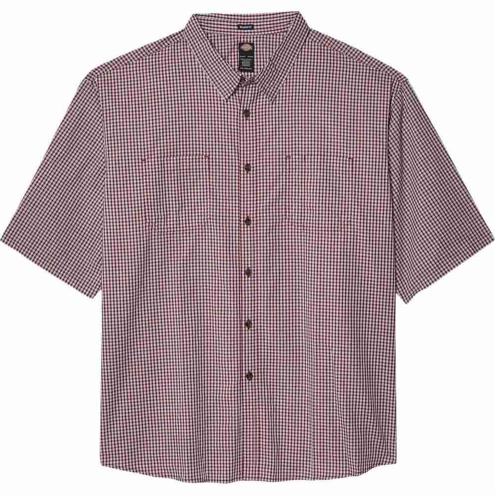 ディッキーズ Dickies メンズ 半袖シャツ 大きいサイズ トップス【Big & Tall Short Sleeve Woven Shirt】Wine Mini Check