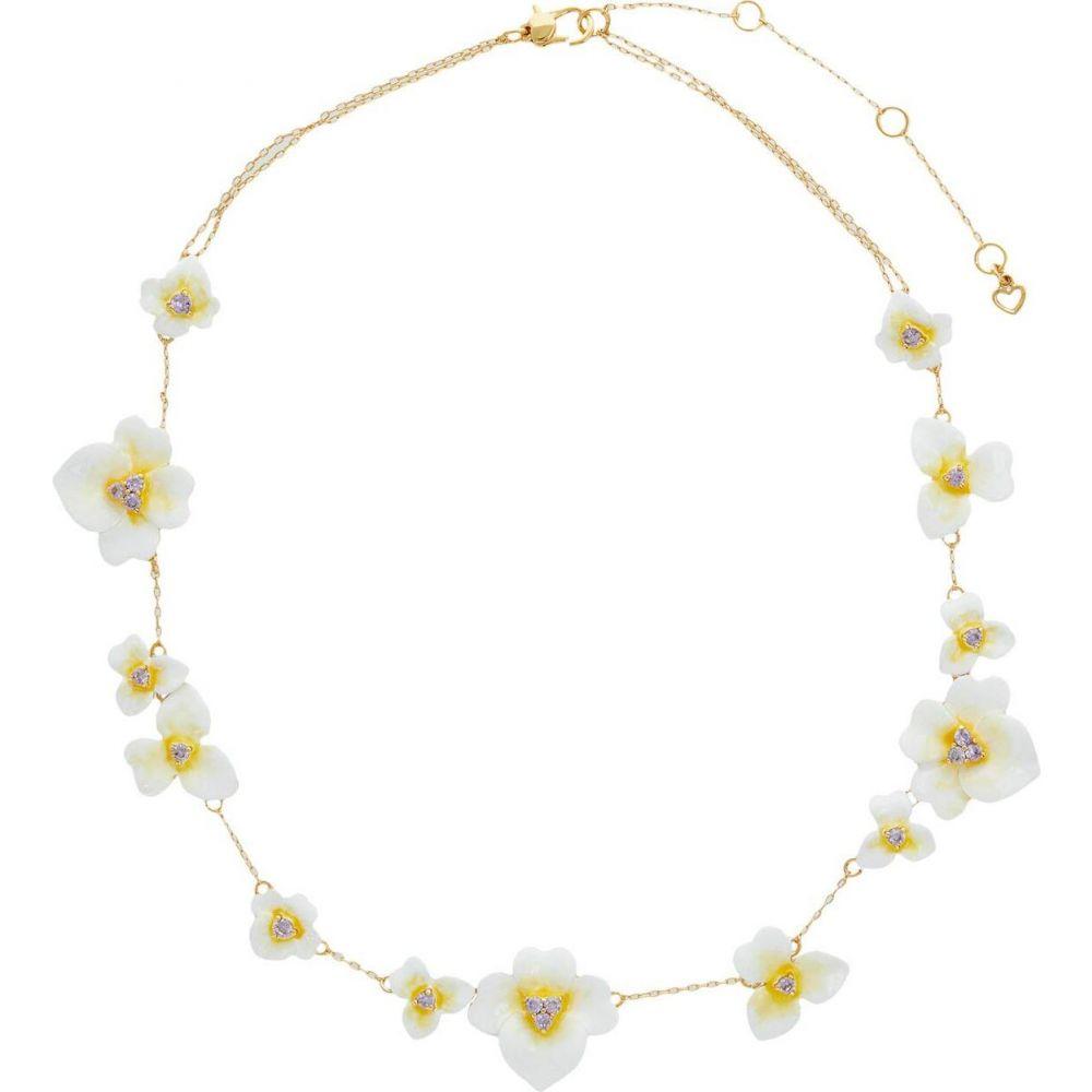 ケイト スペード Kate Spade New York レディース ネックレス ジュエリー・アクセサリー【Precious Pansy Enamel Scatter Necklace】Yellow Multi