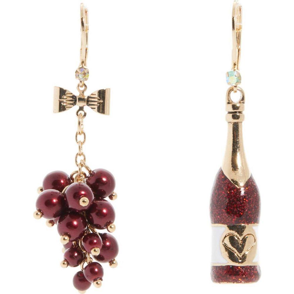 ベッツィ ジョンソン Betsey Johnson レディース イヤリング・ピアス ジュエリー・アクセサリー【Wine Grapes Mismatched Earrings】Purple