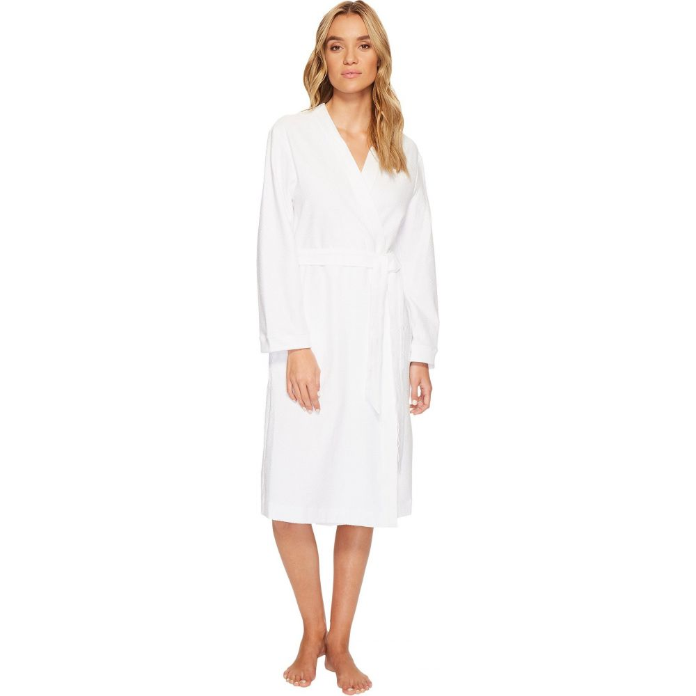 ハンロ Hanro レディース ガウン・バスローブ インナー・下着【Robe Selection Cotton Pique Robe】White