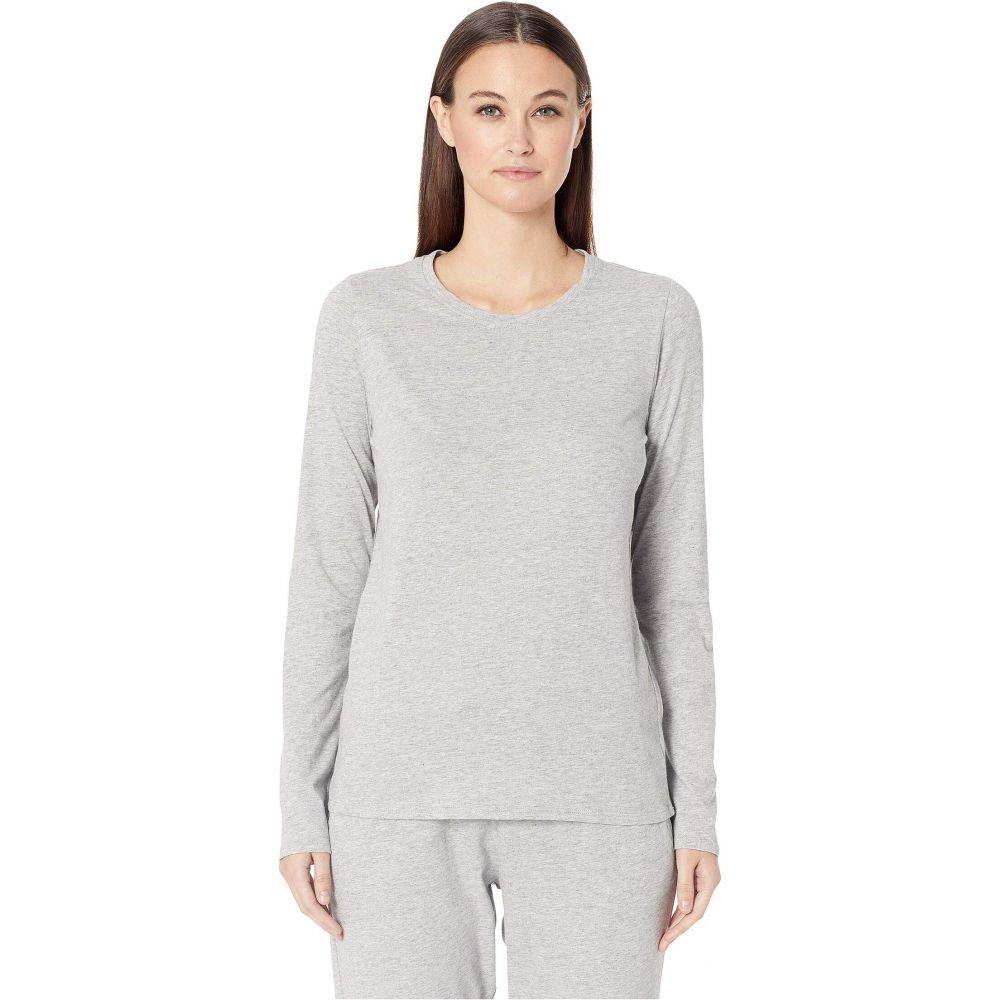 スキン Skin レディース パジャマ・トップのみ インナー・下着【Natural Jael Organic Cotton Long Sleeve Tee】Heather Grey
