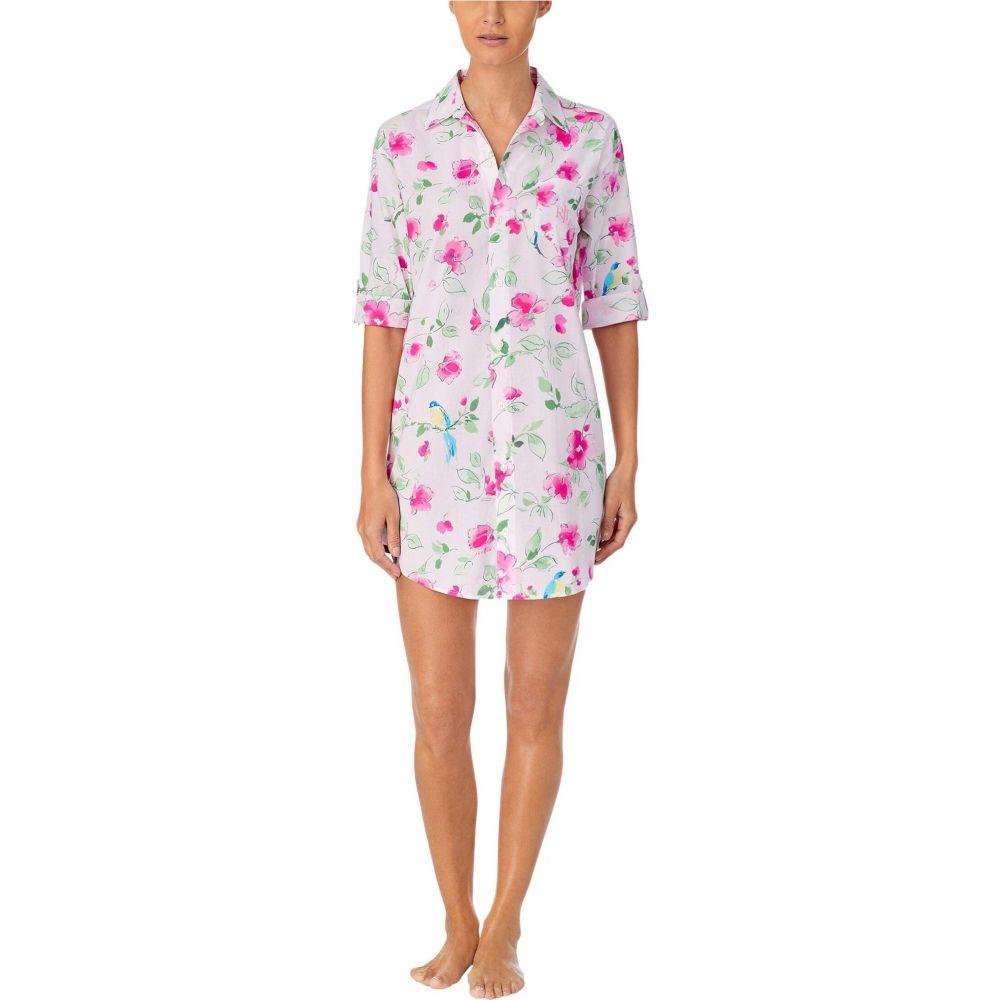 ラルフ ローレン LAUREN Ralph Lauren レディース パジャマ・トップのみ 七分袖 インナー・下着【Classic Wovens 3/4 Sleeve His Sleepshirt】Pink Floral
