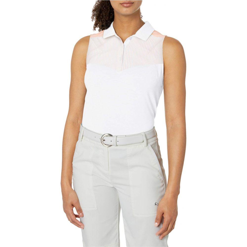 プーマ PUMA Golf レディース ノースリーブ ポロシャツ トップス【Verticals Sleeveless Polo】Bright White
