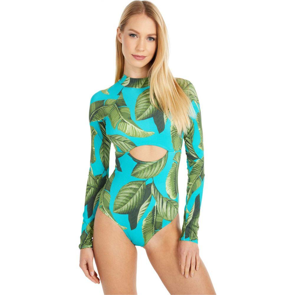 リップカール Rip Curl レディース ワンピース 水着・ビーチウェア【Coco Beach Cheeky Long Sleeve Swim】Turquoise
