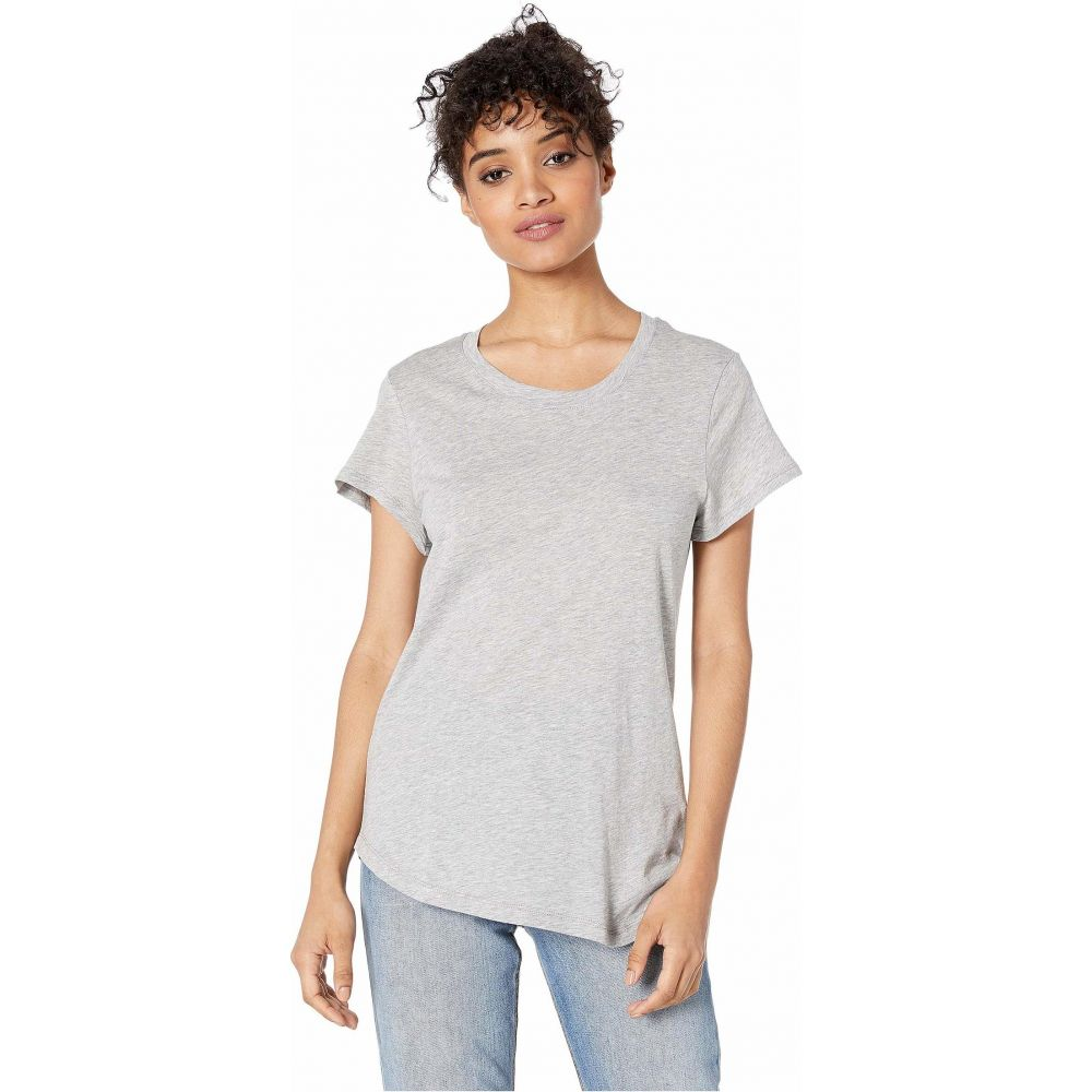 スプレンディッド Splendid レディース Tシャツ トップス【Abbie Short Sleeve Modal Jersey Crew Tee】Heather Grey