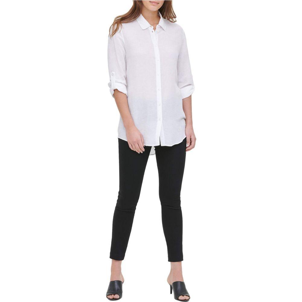 カルバンクライン Calvin Klein レディース チュニック トップス【Roll Sleeve Tunic】Soft White
