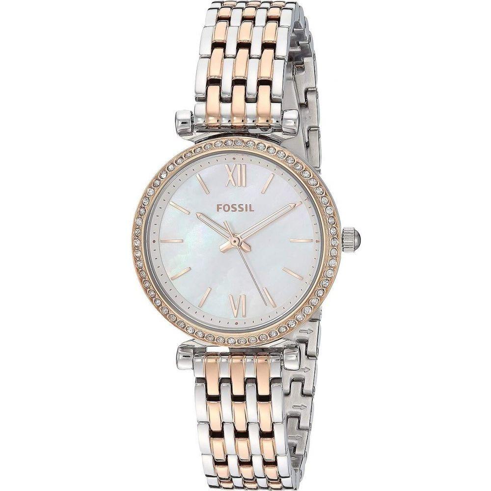 フォッシル Fossil レディース 腕時計 【Mini Carlie - ES4649】Rose Gold/Silver