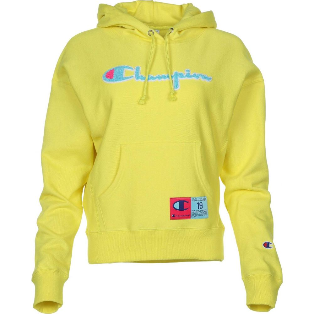 チャンピオン Champion レディース パーカー トップス【Reverse Weave Pullover Hoodie】Journey Yellow