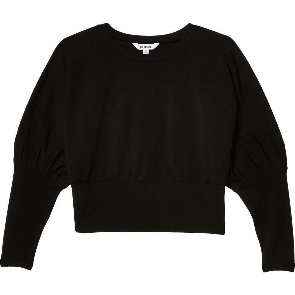 ビービーダコタ BB Dakota レディース トップス 【Sleeve Me Be Poet Sleeve French Terry Knit Top】Black
