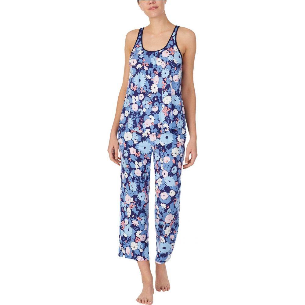 ケイト スペード Kate Spade New York レディース パジャマ・上下セット インナー・下着【Modal Jersey Sleeveless Cropped PJ Set】Navy Floral Print