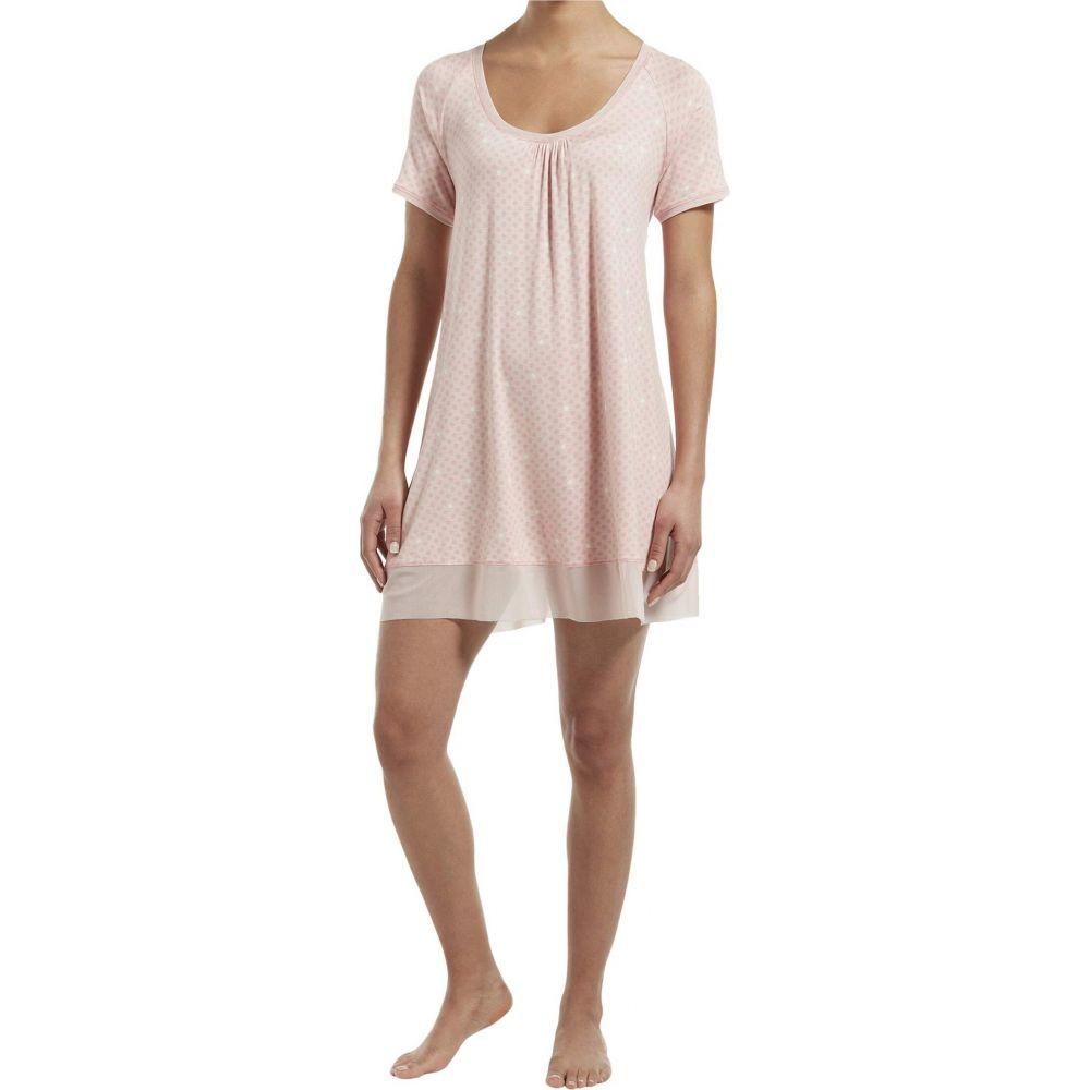 フエ HUE レディース パジャマ・トップのみ インナー・下着【Solid Short Sleeve Sleep Gown with Temp Tech】Calming Rose