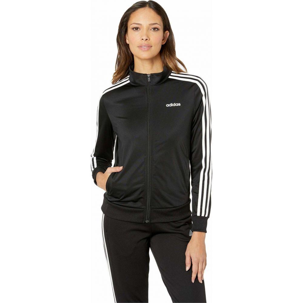 アディダス adidas レディース ジャケット アウター【Essential 3-Stripes Tricot Jacket】Black/White