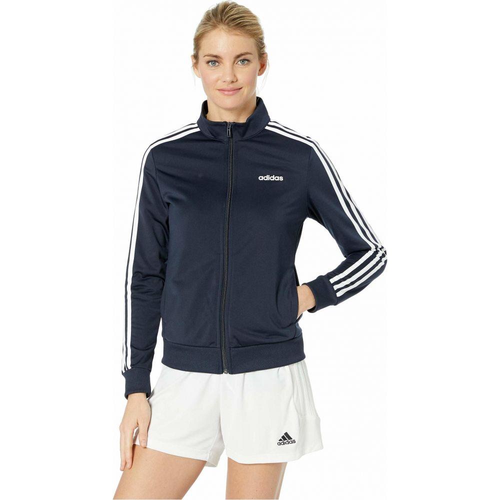 アディダス adidas レディース ジャケット アウター【Essential 3-Stripes Tricot Jacket】Legend Ink/White