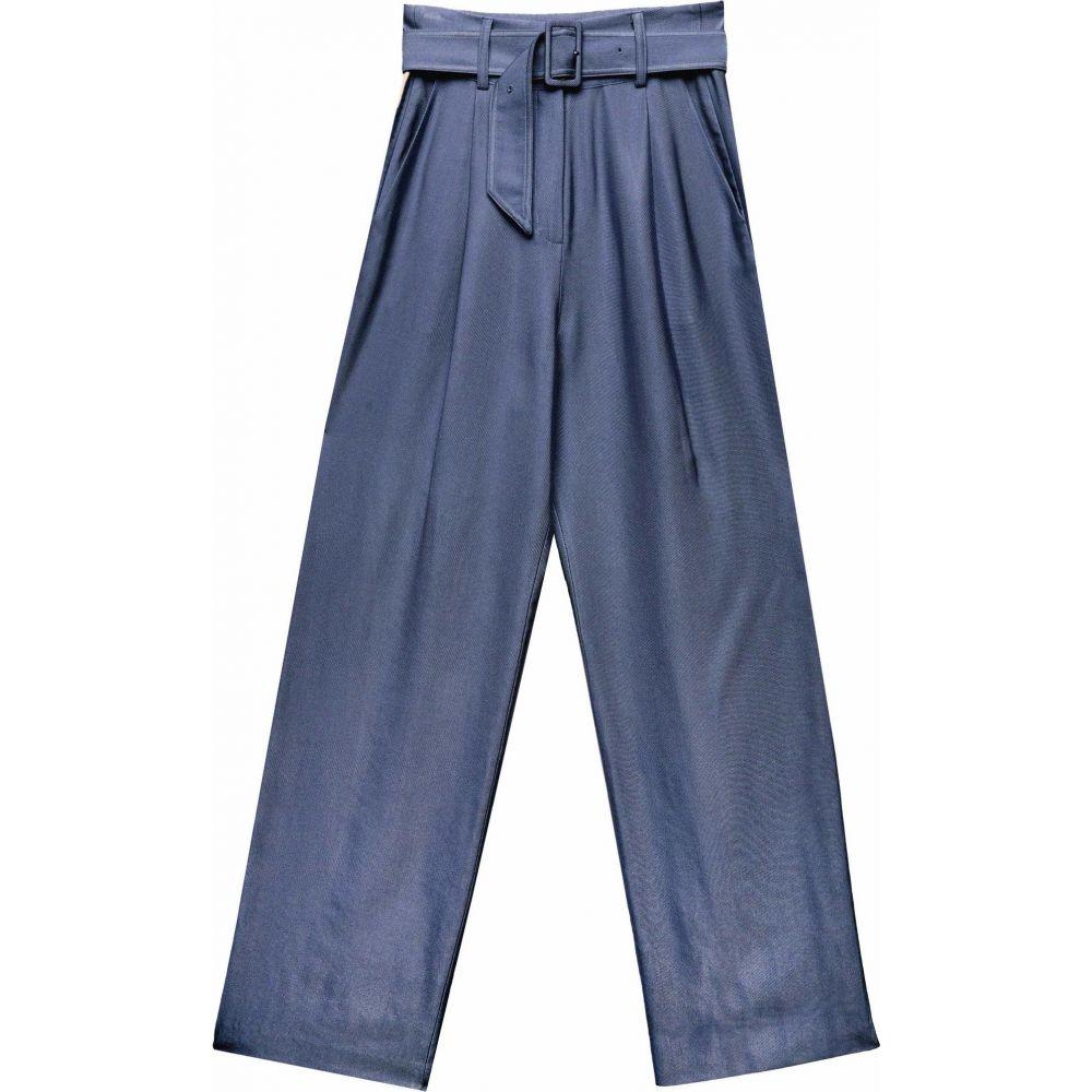 フルール ドゥ マル fleur du mal レディース ボトムス・パンツ 【Twill Belted Trousers】Denim