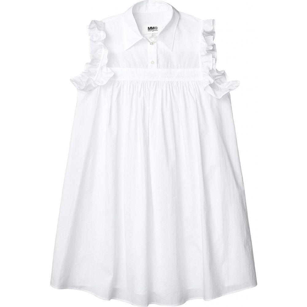 メゾン マルジェラ MM6 Maison Margiela レディース ワンピース ワンピース・ドレス【Ruffle Sleeve Detail Dress】White Mix Jacquard