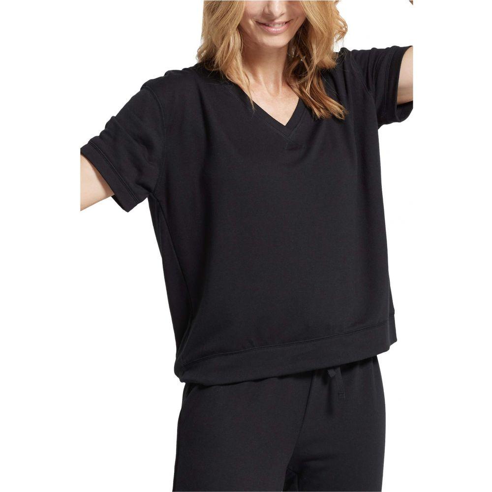ユミエ Yummie レディース 長袖Tシャツ 七分袖 大きいサイズ Vネック トップス【Plus Size V-Neck 3/4 Sleeve Tee】Black