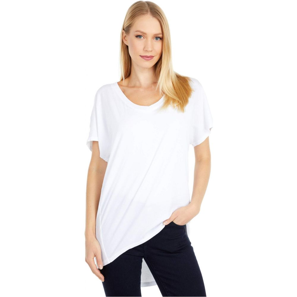ボビ ロサンゼルス bobi Los Angeles レディース Tシャツ トップス【Rib Mix Dolman Tee in Lightweight Jersey】White