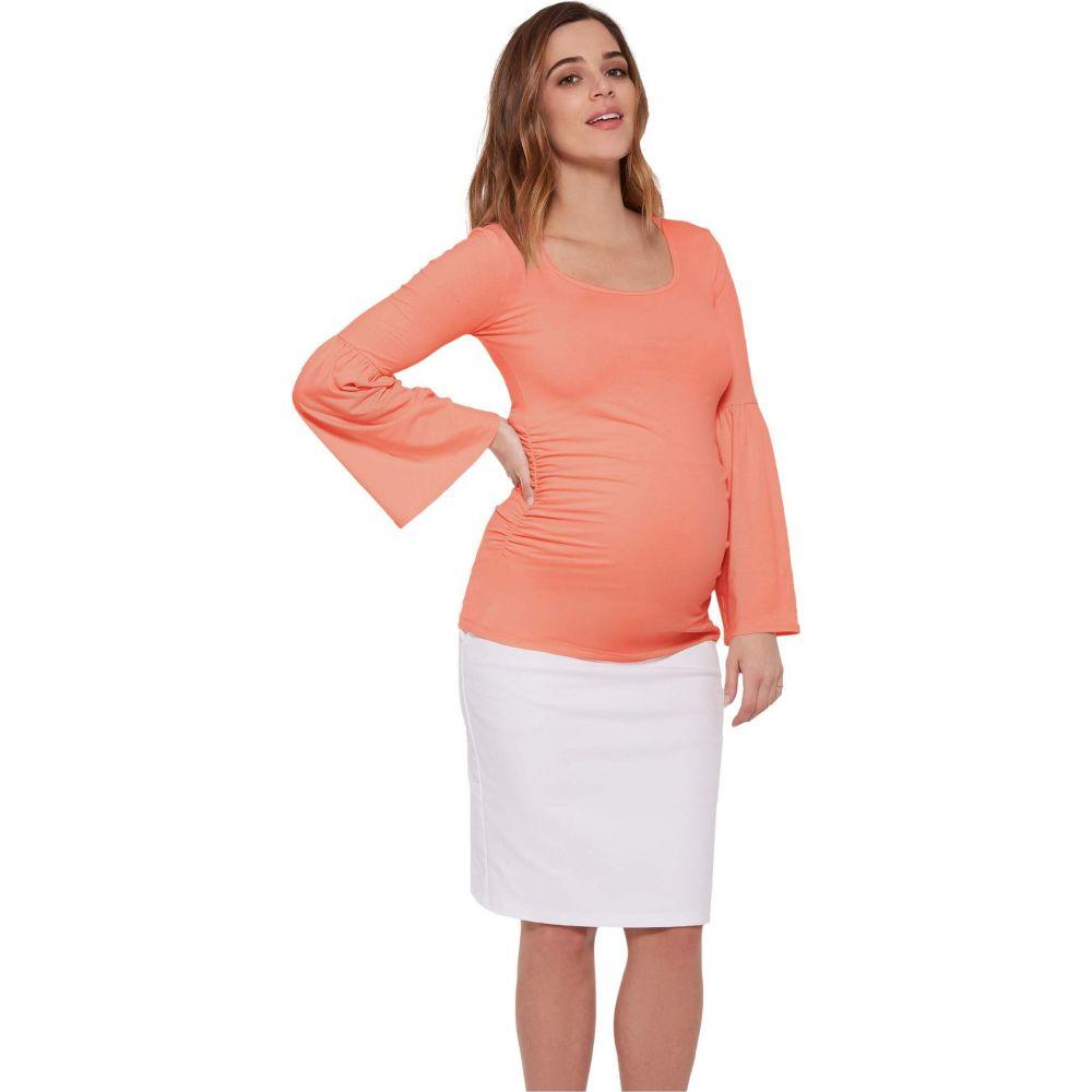 ストゥアウェイ コレクション Stowaway Collection Maternity レディース トップス マタニティウェア【Maternity Bell Sleeve Top】Coral