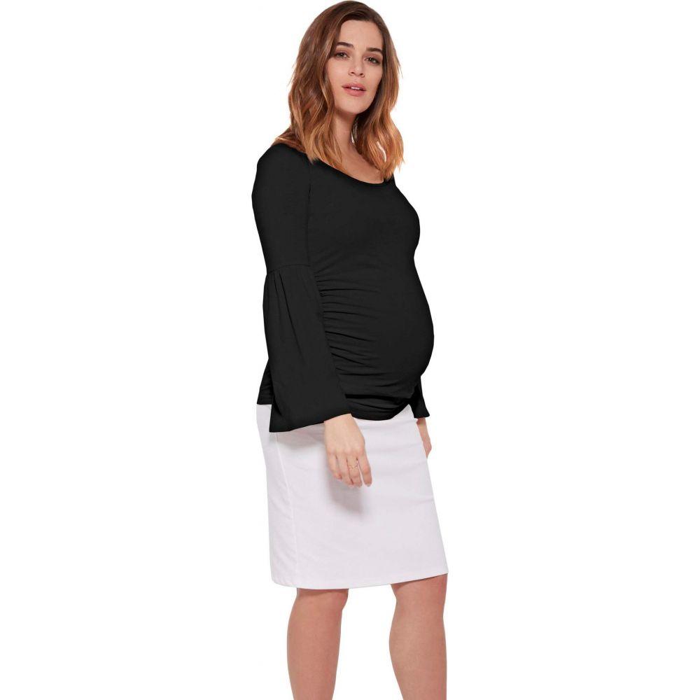 ストゥアウェイ コレクション Stowaway Collection Maternity レディース トップス マタニティウェア【Maternity Bell Sleeve Top】Black