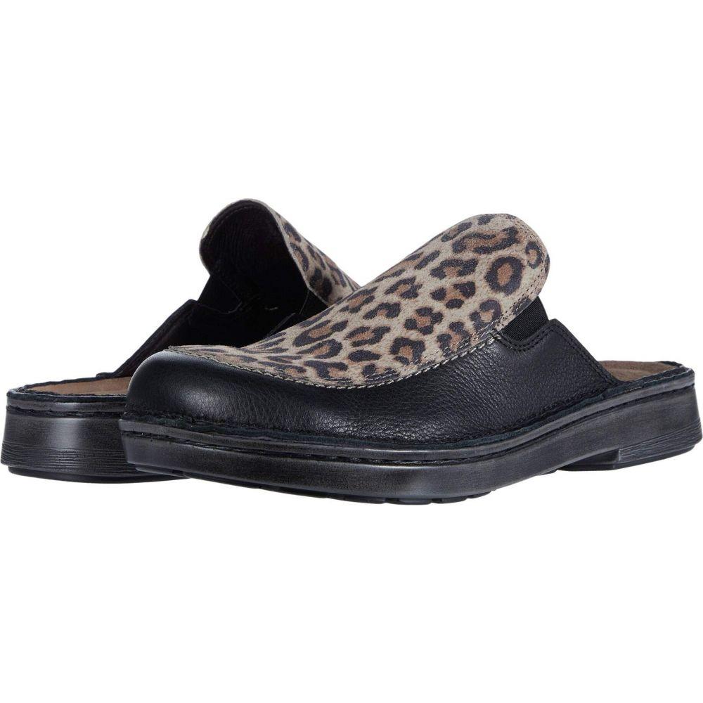 ナオト Naot レディース シューズ・靴 【Procida】Soft Black Leather/Cheetah Suede