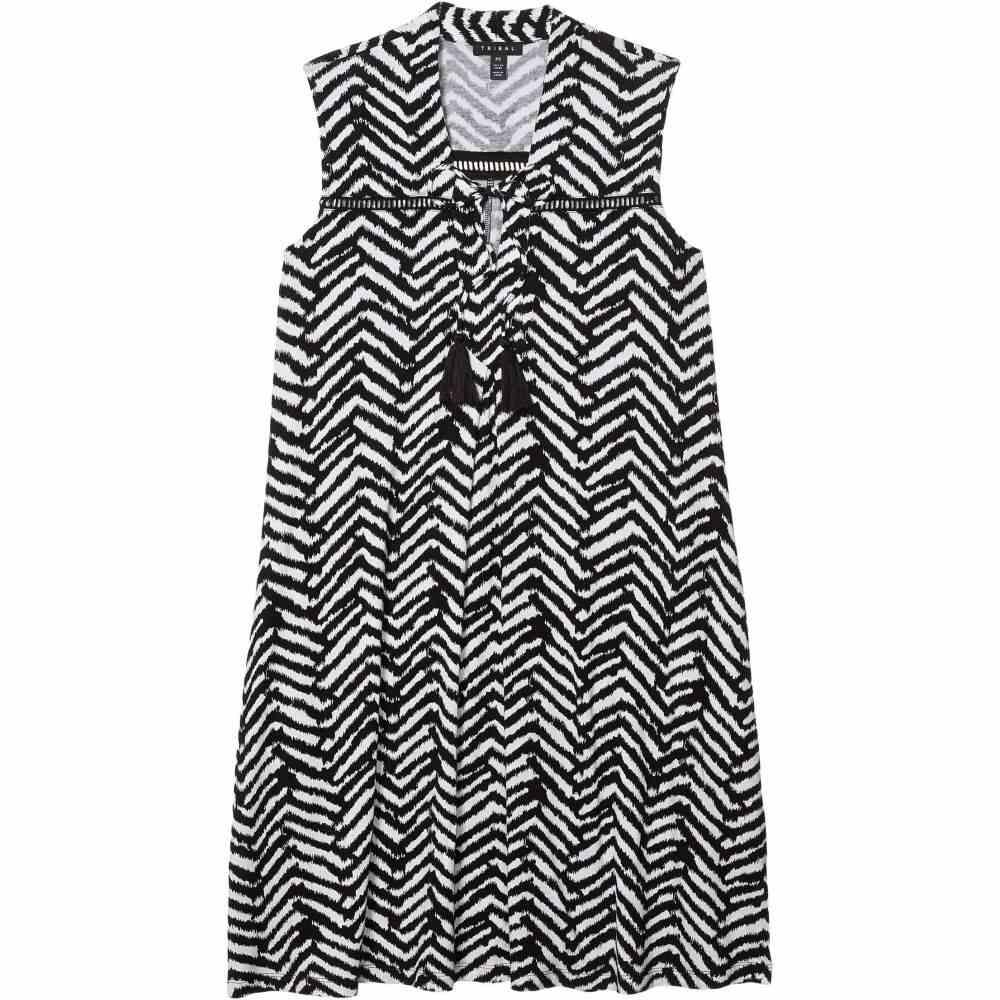 トリバル Tribal レディース ワンピース ノースリーブ ワンピース・ドレス【Sleeveless Dress w/ Tassels】Black