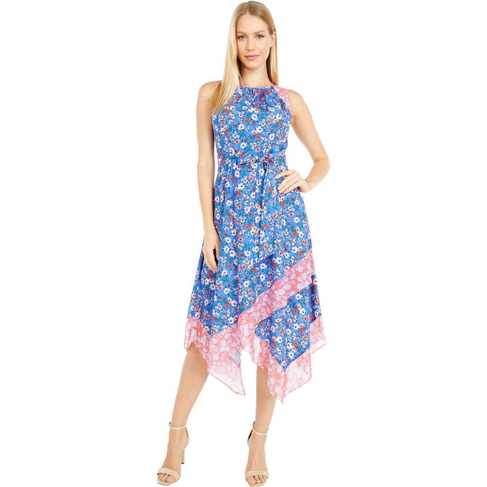ヴィンス カムート Vince Camuto レディース ワンピース ワンピース・ドレス【Printed Crepe De Chine Midi Dress】Blue Multi