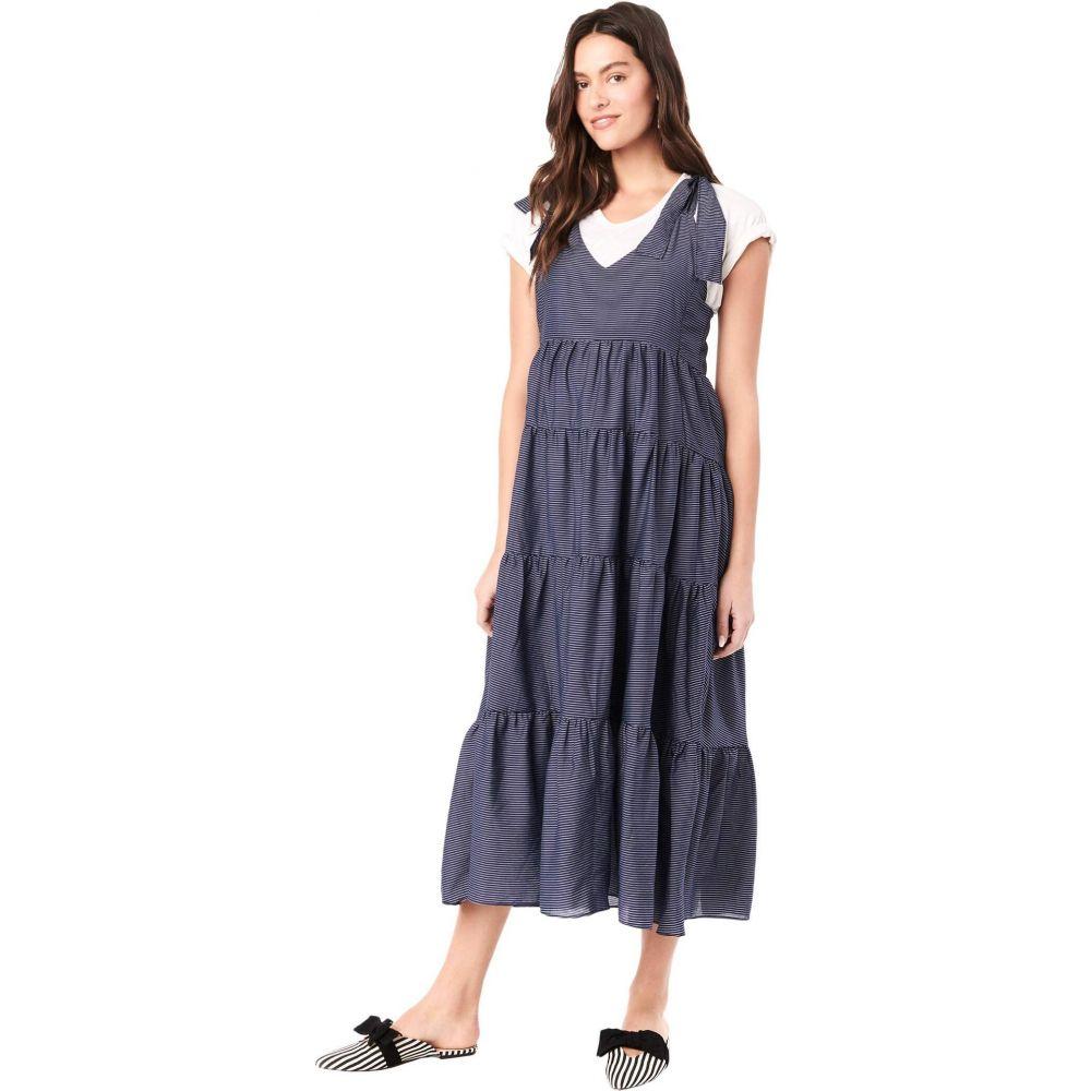 ロイヤル ハナ Loyal Hana レディース ワンピース マタニティウェア ノースリーブ ワンピース・ドレス【Rio Sleeveless Maternity Dress】Navy/White Stripes